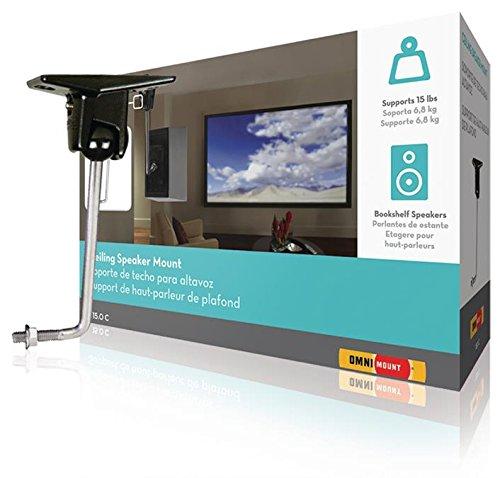 OmniMount Lautsprecherhalter vollbeweglich 6.8 kg Schwarz, Enhance Your Audio System Stainless (9739015304) Omnimount Systems Home Audio