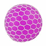 Freebily Giochi di Palline Palloncini per Bambini & Adulti Sfere di pressage d' ansia Anti Stress Pallone Mesh Squishy Squeeze Balls Multi-Colores Rosa Taglia Unica Diametro 6cm