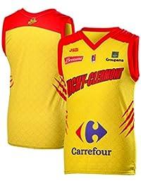 Vichy-Clermont - Camiseta de Baloncesto (Temporada 2018-2019), diseño de Vichy-Clermont, Niño, Color Amarillo, tamaño FR : XXS (Taille…