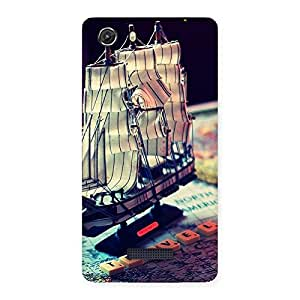 Travel ship Multicolor Back Case Cover for Micromax Unite 3