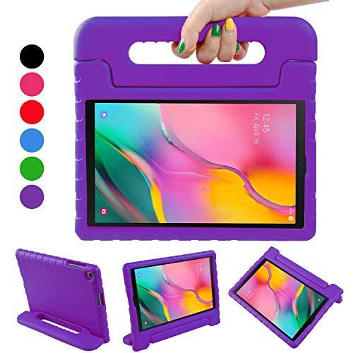 BelleStyle Funda para Samsung Galaxy Tab A 10.1 2019, A Prueba de Choques Ligero Estuche Protector Manija Caso Forró con Soporte para Niños para Galaxy Tab A 10.1 Pulgadas T515/T510 2019 (Púrpura)