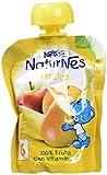 NESTLÉ Bolsita de puré de frutas, variedad 4 Frutas, para bebés a partir de 4 meses - Paquete de 16 bolsitas x 90 g