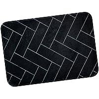 Dolity Felpudo Moderna Coreana Accesorios Antideslizante Protección de Medio Ambiente Cómodo - Ladrillo Negro, 40x60cm