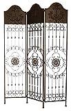 Paravent Pergola Spalier Rankhilfe Zaun 19kg Metall antik Stil Raumteiler braun