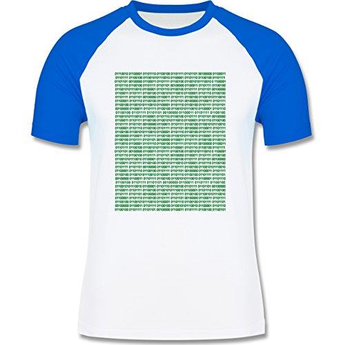 Shirtracer Programmierer - Binärcode - Herren Baseball Shirt Weiß/Royalblau
