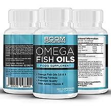 Omega 3 6 9 Oli di pesce 1000 mg Forza Massima | 120 potenti capsule di Omega 3 da oli di pesce | Scorta COMPLETA per 2 mesi | Ottimo per uomini e donne | Ricca fonte di acidi grassi Omega 3 | Sicuro ed Efficace | Pillole più vendute | Prodotto nel Regno Unito | Risultati garantiti | 30 giorni con garanzia di rimborso