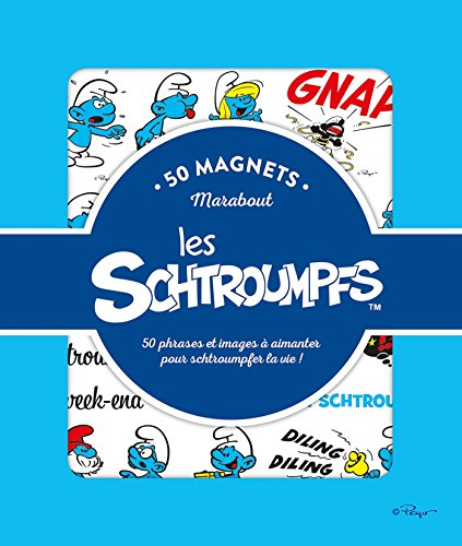 50 Magnets Schtroumpfs: 50 phrases et images à aimanter pour schtroumfer la vie !