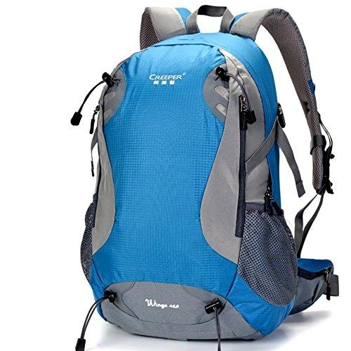 borse alpinismo esterno/Zaino da viaggio in bicicletta/Pacchetti turistici-rosso 45L blu