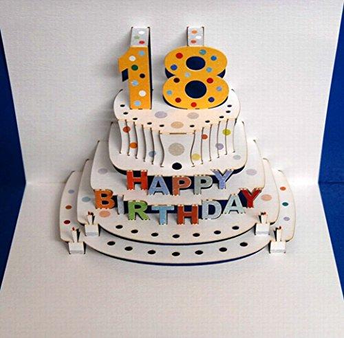 edel und elegant mit... Geburtstag Forever Handmade Pop Up Karte zum 18