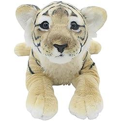 TAGLN Peluches Juguetes Tiger Animales Leopardo Guepardo León Pantera Almohadas (Tigre Marrón, 40 CM)