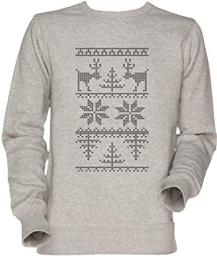 Vendax Nordisch Stricken Muster Unisex Sweatshirt Grau