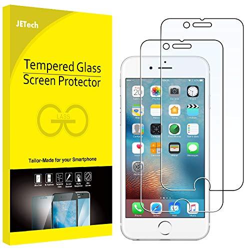 JETech Film de Protection d'écran pour iPhone 6s et iPhone 6 en Verre Trempé, Lot de 2