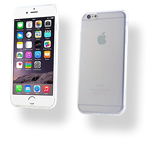 + iPhone 6 PLUS / 6S PLUS SILIKON Schale Handy Hülle Tasche Schutz Cover Case Bumper Etui + PANZER GLAS FOLIE (Pink) Farblos