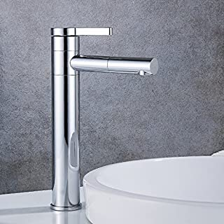 Wanfor High Wasserhahn 360-Grad-Drehung Mischbatterie Einhebel-Waschbecken Wasserhahn Chrom, Küchen Badinstallation Waschtischarmaturen