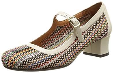 Chie Mihara Trejoli, Chaussures de ville femme - Multicolore (Mash Multi/Taichi Leche), 36 EU