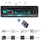 leegoal Bluetooth Autoradio, Bluetooth Autoradio Single Din Auto Radio In-Dash-Auto MP3-Player USB/SD/TF/FM/Audio Receiver Hände kostenlose Anrufe mit Funk-Fernbedienung, 7 helle Farben einstellbar