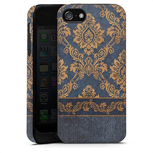 Apple iPhone 4 Housse Étui Silicone Coque Protection Ornements Baroque Motif Cas Tough terne