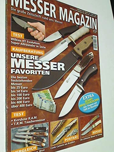 Messer Magazin Nr. 1 / 2011 Test: Kershaw R.A.M, T.R.M. Tauchermesser; Wilkins HT Evolution: Super Allrounder in Serie. Zeitschrift, 4195012305505