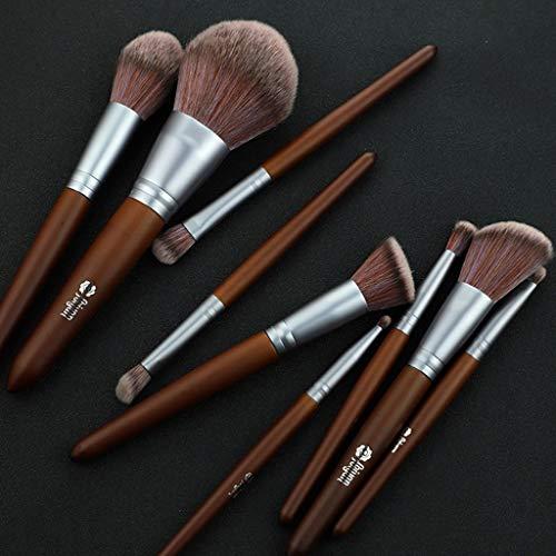 Fcostume 9 Pinceaux Ruge Acajou DE Pinceaux Maquillages Yeux en Cristal,Makeup Brushes DE Débutant Maquillage Pinceau (Noir)