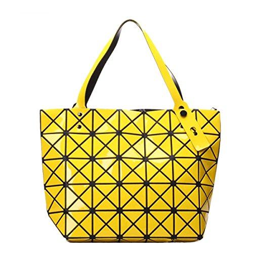 Frauen Paket Geometrische Umhängetasche Handtasche Yellow