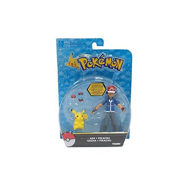 Pokemon Pack de 2 Figuras Ash & Pikachu 2