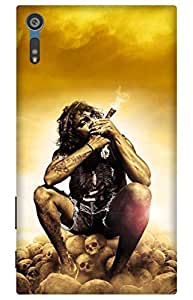 iessential god Designer Printed Back Case Cover for Sony Xperia XZs