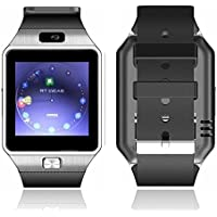 DZ09 Bluetooth Smart watch Wearable Devices with SIM TF Card Slot Electronics Smart watch 1.54 Inch Touch Screen for Android Smartphone IOS Ssmartphone (Silver)
