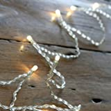 Battery Operated Fairy Lights with 10 Warm White LEDs by Lights4fun Bild
