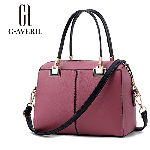 G-AVERIL, Borsa a mano donna Wine red Rubber red