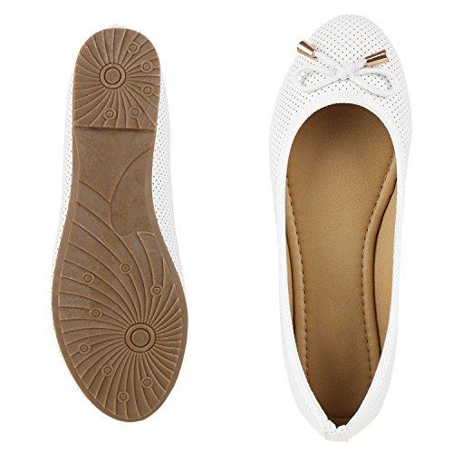 Napoli Fashion Classic Ballerine Da Donna Metallizzate Piatte Grind Eleganti Pantofole Laccate Glitter Shoes Scarpe Da Sera Piatte In Pizzo Jennika Bianco