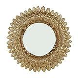 Art Deco Home - Espejo Pared Barroco Dorado 40 cm - 12812SG