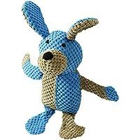 Rollmops Interaktives Hundespielzeug | Kuscheltier mit Quietschkissen | Robustes Mischgewebe | 35cm