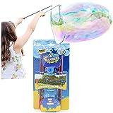 KreativeKraft Kit per Bolle di Sapone Giganti Bubble Maker con Soluzione A Bolle Colorate Bacchetta Magica E Corda Incluse per Feste in Giardino E all'Esterno attività di Compleanno Regalo Bambini