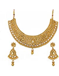 Apara Gold Plated Kundan Necklace Set For Women