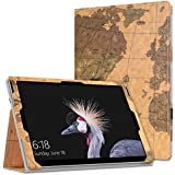 "MoKo Microsoft Surface Pro 4 Case - Slim Folding Cover Case For Microsoft Surface Pro 4 12.3"" / Surface Pro 3 12"" Tablet, Map H"