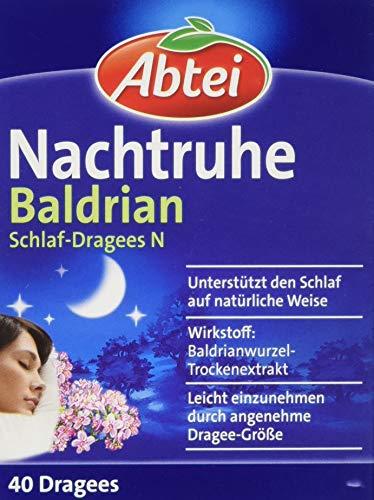 Abtei Nachtruhe Baldrian Schlaf-Dragees, 40 Stück