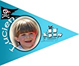 Sticker for you Individuell gestalteter Fahrradwimpel mit Bild und Namen IHRES Kindes