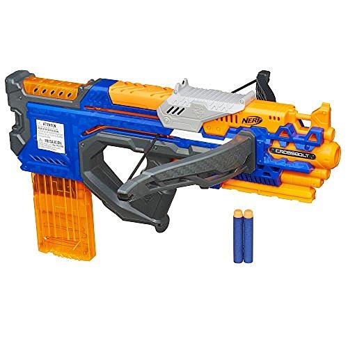 Hasbro Nerf A9317EU4 N-Strike Elite CrossBolt Armbrust 12 Dart Spielzeugblaster (Elite Clip)