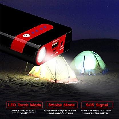 51mHQnRF20L. SS416  - Arrancador de Coche Portatil 10000mAh 500A Jump Starter Power Bank Arrancador de Moto Arranque para 12V 2.5L Gasolina Batería Externa Recargable, LED Flashlight, Multifunción con Inteligente Cables