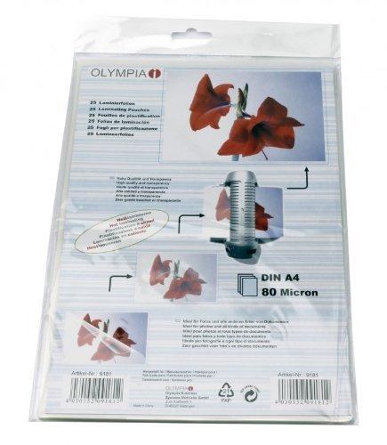 olympia-25-fogli-di-plastificazione-din-a4-80-micron