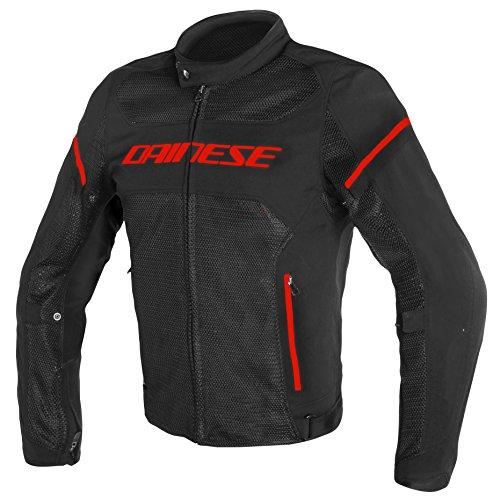 Dainese 1735196_P75_58 Chaqueta para moto, Negro/Fluo Rojo, 58