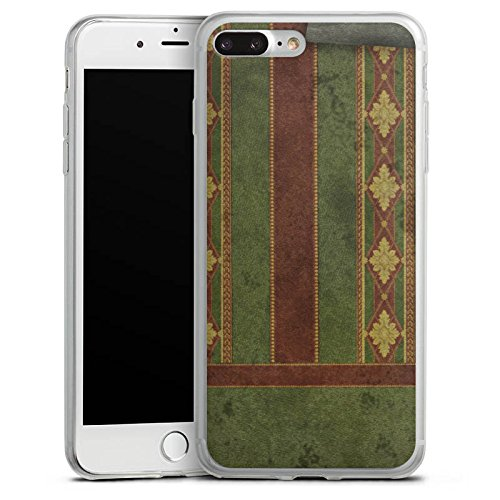 Apple iPhone X Slim Case Silikon Hülle Schutzhülle Wand Muster Retro Silikon Slim Case transparent