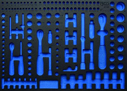 BGS 3/3 Werkstattwageneinlage leer für Steckschlüsselsatz, 192-teilig, 4036-1