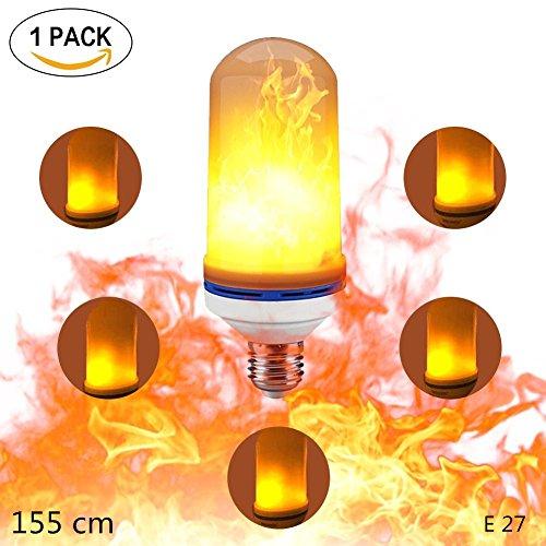 LED Bulbe, KACOOL Brûlant Flamme Ampoule E27 LED Lighting Flicker Flame Bulbs 4W Creative Lights avec scintillement Emulation Atmosphere Lampes décoratives pour Maison, Jardin,Party, Mariage,Noël