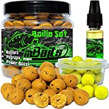 Angel-Berger Magic Baits Boilie Set Pop Ups Dip in verschiedenen Sorten (Magic Mais)