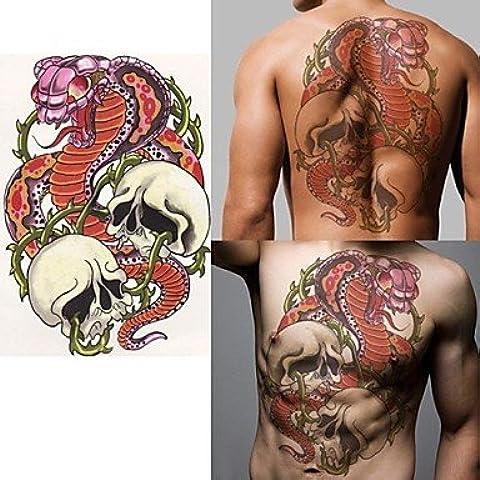 HJLWST® Tatuajes Adhesivos - Non Toxic/Parte Lumbar/Waterproof - Otros - Niños/Mujer/Hombre/Adulto/Juventud - Rojo/Multicolor/Verde - Papel - 1