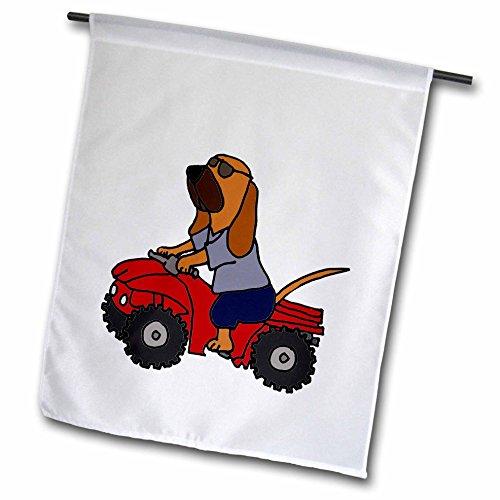 und Redneck Hund mit rot ATV–Garten Flagge, 12durch 45,7cm ()