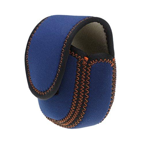 Homyl Wasserdicht Nylon Angeln Rolle Abdeckungen für 5 / 6wt Fliegenrolle - 130 x 130mm - Blau, 130 x 130 mm / 5 x 5 Zoll