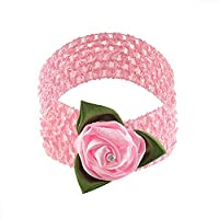 CrayonFlakes Kids Girls Floral Stretchable Elastic Crochet Headband/Hair Band