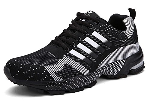 Men's Comfortable Lace Up Athletic Running Shoes Men black
